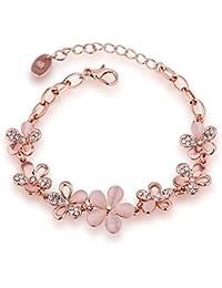 Aaishwarya Gold Crystal Charm Bracelet for Girls