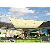 Kookaburra Toldo Vela de Sombra Para Jardín - Resistente al Agua - 3m x 2m Rectangular Marfil