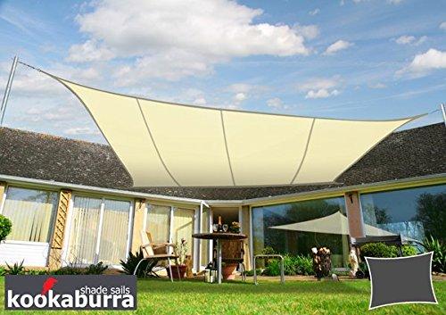 Kookaburra water resistant sun vela parasole in avorio–4m x 3m rettangolare
