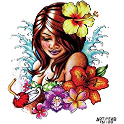 "Temporäre Tätowierung / Temporary Tattoo ""Aloha"" - ArtWear Tattoo - B0351 M"