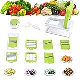 Amzdeal Gemüseschneider Kartoffelschneider - praktischer Multischneider für die meisten Gemüse und Früchte, schnelle und saubere Gemüsehobeln aus lebensmittelechten Sicherheitskunststoff und 304 Edelstahlklingen