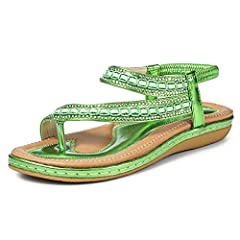 597a5e5b7427 Women Ladies Diamante Open Toe Flat Casual Summer Sandals Beach Shoe ...