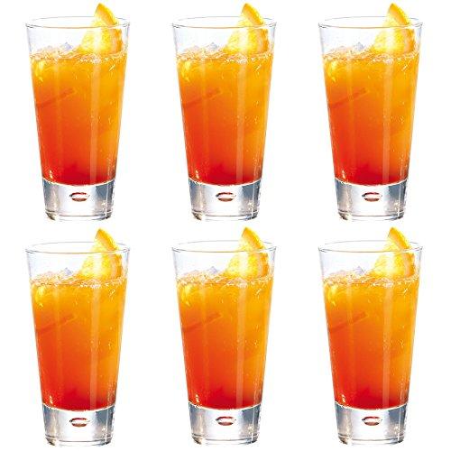 Durobor bicchieri modello norway, tipo highball, per cocktail/bevande, da 320 ml - confezione da 6