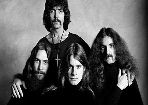 Stampa poster Black Sabbath (Tony Iommi, Geezer Butler, Ozzy Osbourne), grande copertina album musica rock metal, miglior foto band, formato A4