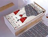 New Cotton Saco nórdico CON relleno SIOUX para cama 90 x 190/200 + 1 funda de almohada. Saco unido...