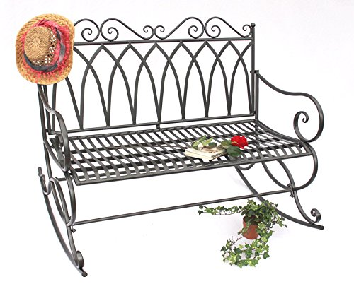 DanDiBo Schaukelbank 132730 Gartenbank aus Metall Bank 112 cm Sitzbank Garten Schaukel - 6