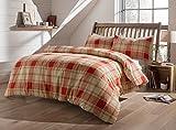 Die besten Gemütliche Bettwäsche Tröster Sets - Biber Luxus Bettbezug Set, 100% weicher Baumwolle, Single Bewertungen