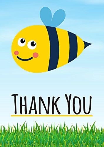 Greetingles Dankeskarten mit Umschlägen, Motiv Biene, 10 Stück