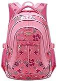Unisex Zaino Scuola per Elementare e Media impermeabile Schoolbag Casuale per Ragazze Scuola Borse Zaini Borsa Scuola Borse da Viaggio (Rosa#1)