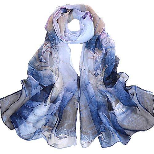 Aloiness scialle di eleganti sciarpa stole scialle cerimonia chiffon delle sciarpe ideale per abiti da sera, matrimoni, feste, per damigella d'onore, sposa o vestiti da sposa o prom proms