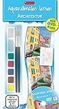 Aquarellmalen lernen - Architektur: Set mit DVD, Pinsel, Aquarellfarben, Mischpalette und Zeichenblock