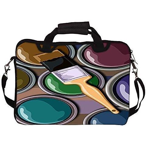 """Snoogg olio Painter 2452 stampata per Laptop con tracolla, 13 cm a 34,54 (13,6"""")"""