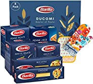 Ducomi Barilla Variety Pack, Multipack 3 kg, 6 Tipos de Pasta: Gnocchi, Penne Lisce, Pipette Rigate, Penne Rig
