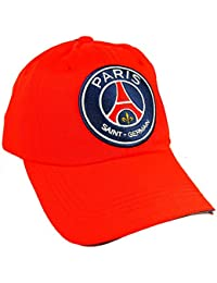 PSG - Casquette PSG Paris Saint Germain Officielle - Taille réglable - Rouge