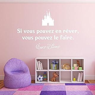 Adesiviamo ® Walt Disney It Vous Pouvez En Rever Vouz Pouvez the Faire Wall Sticker Wall Art Large White