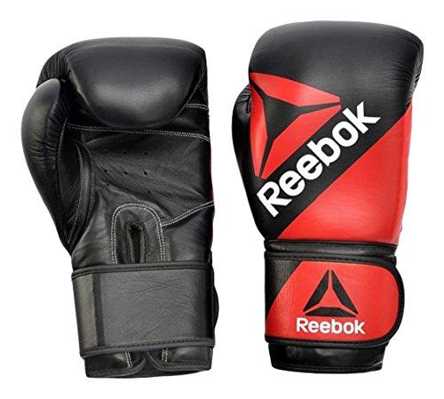 Reebok guantes de entrenamiento de piel, Unisex, color rojo, tamaño S