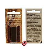 Wachskitt Stange Eiche rustikal 7g von Bindulin - eichen-farbenes Kitt zur Ausbesserung von Holz Möbel Kunststoff- Möbelwachs auf Bienenwachsbasis für Löcher Kratzer Fehler, Farbe: Eiche 7 Gramm