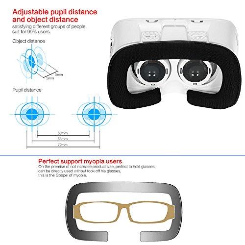 Arealer VR Virtuelle Realität Brille Kopfset Headset 3D-Brille DIY 3D Movie Spiele Brille w / Magnetschalter Kopf-Mounted-Stirnband für iPhone Samsung / alle 3.5 ~ 6.0