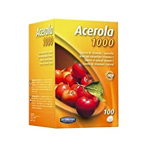 Orthonat - Acerola 1000 mg - 100 comprimés - Riche en vitamine c d'origine naturelle