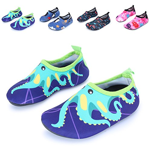 L-RUN Schwimmbecken Schuhe Schnell trocken für Strand Sand Surf Lila EU 36-37 Big Kid