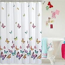 Mariposa imprimir cortina de ducha de poliéster impermeable baño, 180 * 180CM