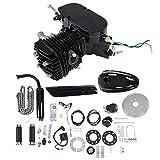 Motore centrale per bicicletta, kit di conversione per bici elettrica, 80cc 2 tempi ciclo pedale Benzina Gas motore Kit conversione bici per moto nero motorizzato