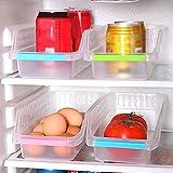 quanjucheer frigorifero Storage Box, frigorifero congelatore Organizer Storage Raccolta Box Cestino da cucina Frutta Organizer dimensioni rack 30cm x 13,5 centimetri x 8,5 centimetri (casuale)