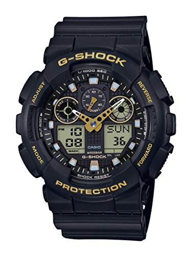 Casio orologio analogico-digitale quarzo uomo con cinturino in resina ga-100gbx-1a9er