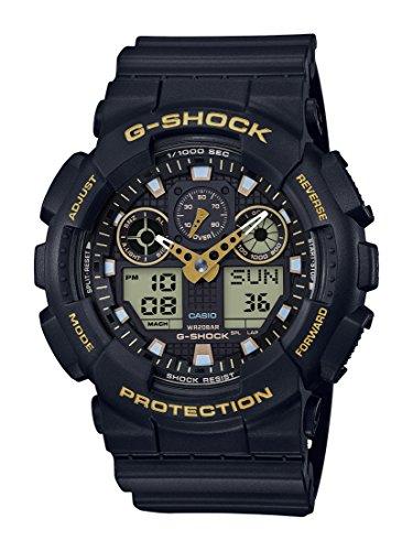 Casio G-Shock Herren Harz Uhrenarmband GA-100GBX-1A9ER