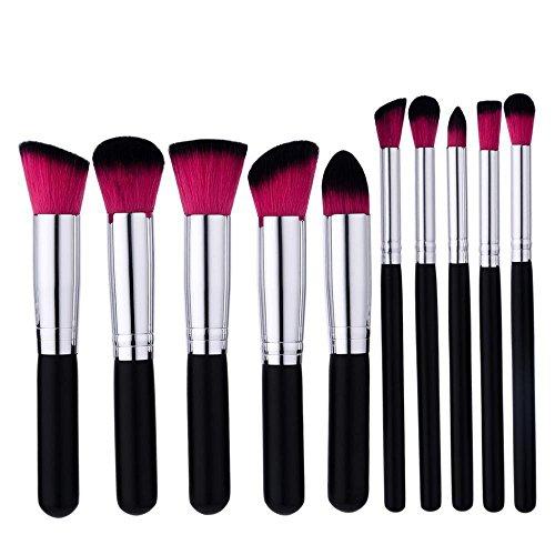 LUBITY 10Pcs Maquillage Fondation Sourcil Eyeliner Rougir CosméTiques Correcteur Brosses