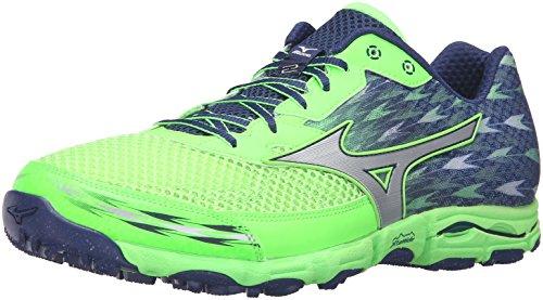 Mizuno Wave Hayate 2 Hombre US 7 Verde Zapato para Correr