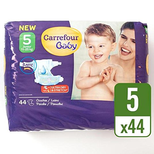 carrefour-baby-pack-de-44-panales-ultra-dry-talla-5-por-paquete