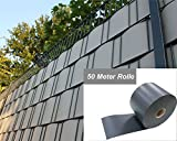 "EXXPERT Projekt Sichtschutz expro ""der Klassiker 50 Meter Rolle Farbe anthrazit RAL 7016, 1,1 mm Stärke"