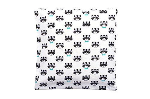 Kinder Kissenbezug 50 x 50 cm, 100 Baumwolle, mit Reißverschluss, Kissen Bezug Öko-Tex Standard, ideal als Bezug für Dekokissen, Sitzkissen oder Kopfkissen