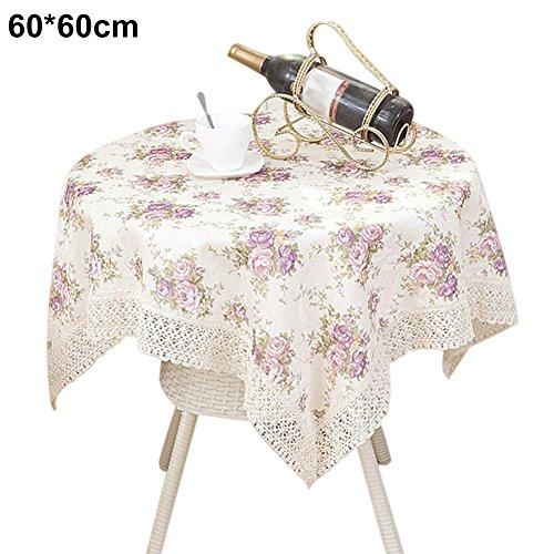 d Vintage Blume gedruckt Home Decor Staubfrei, Küche Abendessen Tisch CLOTH Cover, 1, 60*60 ()