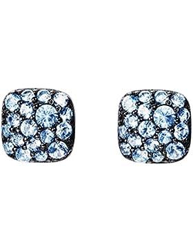 Joop! Damen-Ohrstecker JP-M PAVE Ohrring 925 Silber Glas blau-JPER90362D000