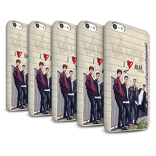 Offiziell The Vamps Hülle / Glanz Snap-On Case für Apple iPhone 5C / Pack 5pcs Muster / The Vamps Geheimes Tagebuch Kollektion Pack 5pcs