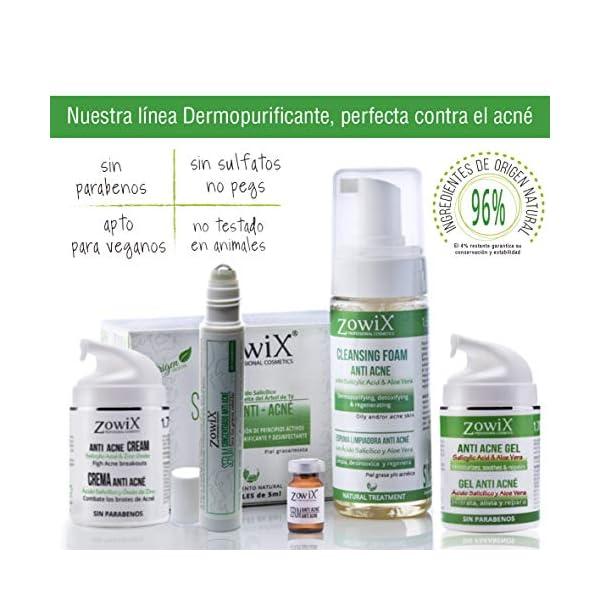 ZOWIX. Serum Concentrado antiacne. Elimina el acné facial. Envase Roll on super práctico. Eficaz en granos, espinillas y…