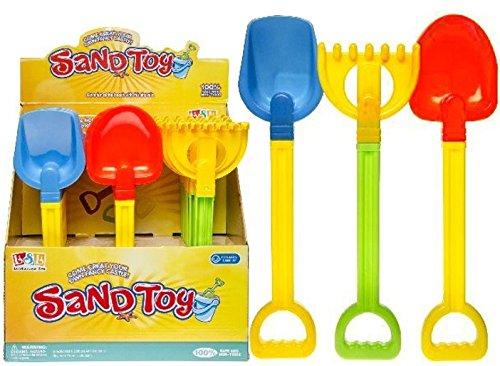 KSS Sandspielzeug Schippe , Spaten , Harke 31 – 34 cm groß Speziell für Kleinkinder Strandspielzeug