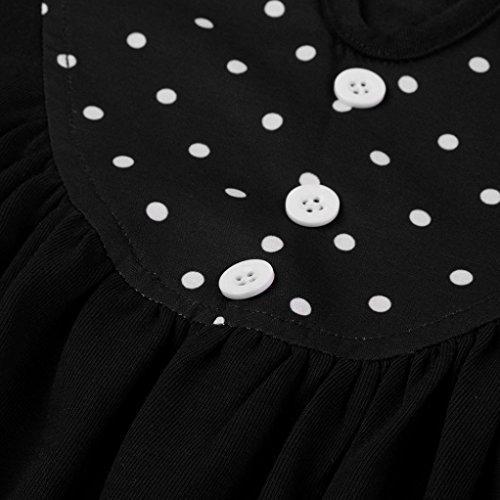 Manadlian T-Shirt,Chemise Femme Femmes Tops Blouse V Neck Button Dots Tops à Manches Longues Noir