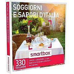 Idea Regalo - Smartbox - Cofanetto Regalo - SOGGIORNI E SAPORI D'ITALIA - 330 soggiorni di gusto in hotel 3* e 4*