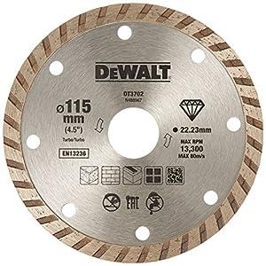 51OqUsRazwL. SS300  - Dewalt DT3702-QZ DT3702-QZ-Disco de Diamante Turbo para Corte en seco 115x22.2mm, para mármol, Granito y Piedra Natural, 0 W, 0 V