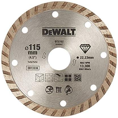 Dewalt DT3702-QZ Disco de diamante turbo para corte en seco 115 x 22.2 mm