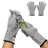 Kuou Schnittfest Handschuhe, Lebensmittelqualität Sicherheit Handschuhe, High Performance Level Handschuhe 5Schutz Ou