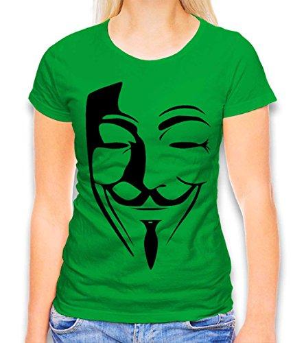 shirtminister Anonimos Damen T-Shirt Gruen L
