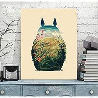 Liliya  Bricolage Peinture à l huile numérique décoration de la Maison  Peinture Totoro 40   46d34f01db1