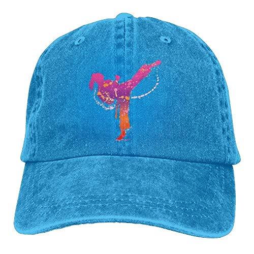 VTXINS Karate Girl Denim Hat Adjustable Mens Casual Baseball Cap,Snapback Caps Women Men Adjustable Baseball Cap Hats