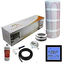 Nassboards Premium Pro - Kit de Calefacción Eléctrica Caja Amarilla Por Suelo Radiante de 150 W - 5.0m² - Termostato Negro Con Pantalla Táctil