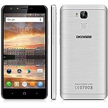 "Doogee Y6C - Smartphone Libre 4G LTE (Android 6.0, Pantalla 5.5"", 8.0 Mp, 16GB ROM, 2GB RAM, Quad-Core 1.3GHz, Dual SIM, Lector de huellas, Bluetooth, GPS, WIFI), Plata"