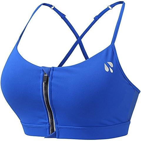 YeeHoo Stretch Workout Front Zipper BH Sport BH Yoga Running Wear